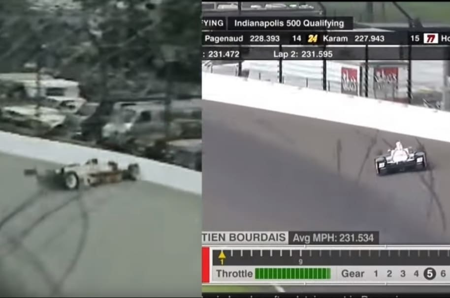 Comparativo de accidente de Bourdais y Gordon Smiley