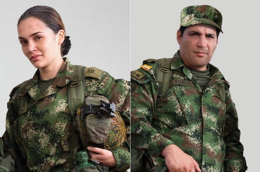 Lina Tejeiro, actriz, y Agmeth Escaf, presentador.
