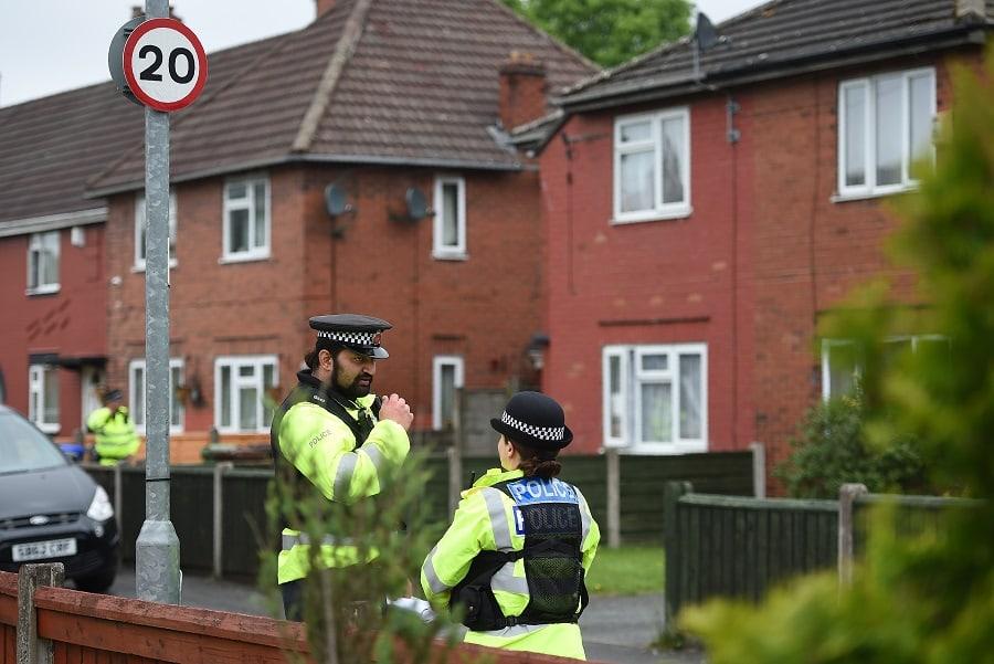 Oficiales de policía en Manchester
