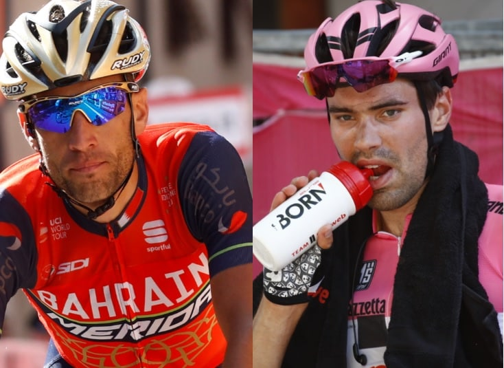 Vincenzo Nibali y Tom Dumoulin