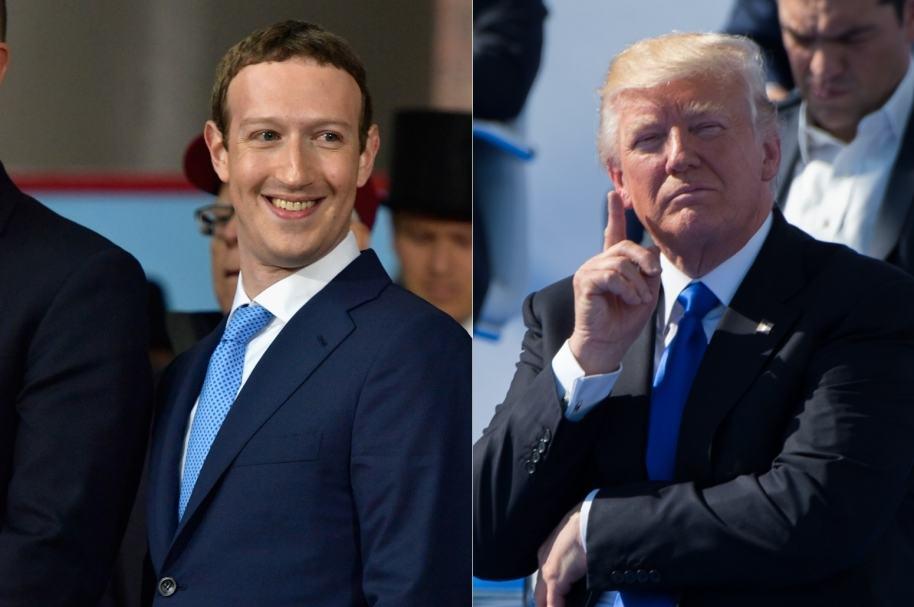 Zuckerberg y Trump