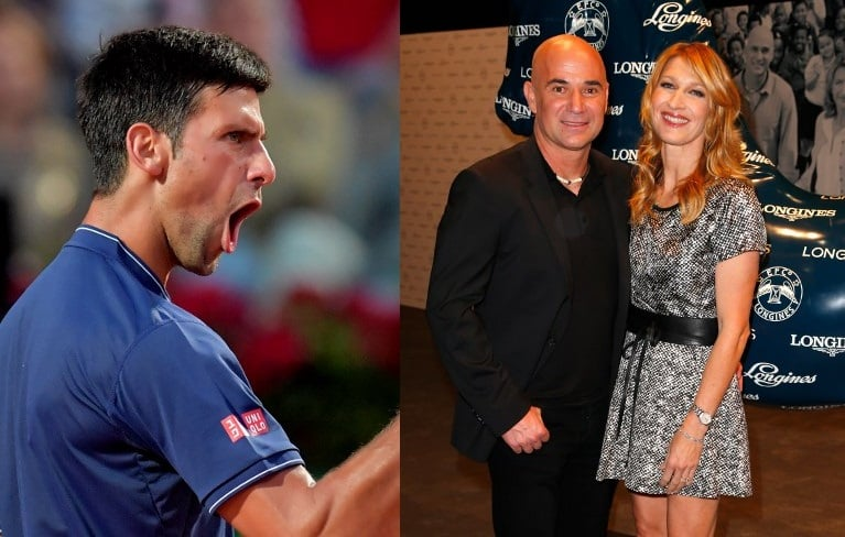 Djokovic, Agassi y Graf