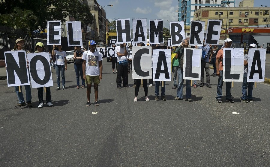 Opositores en Venezuela