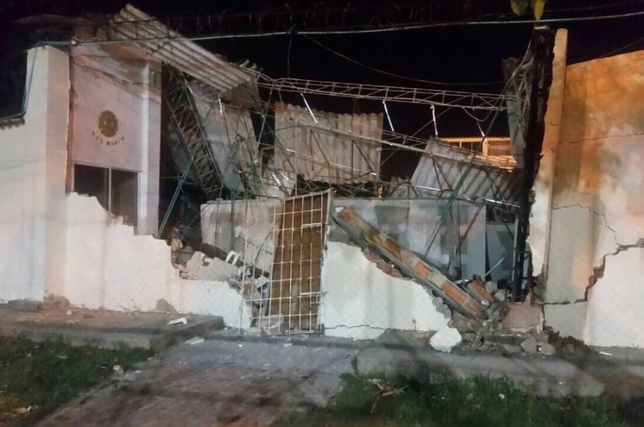 Iglesia desplomada en Cartagena