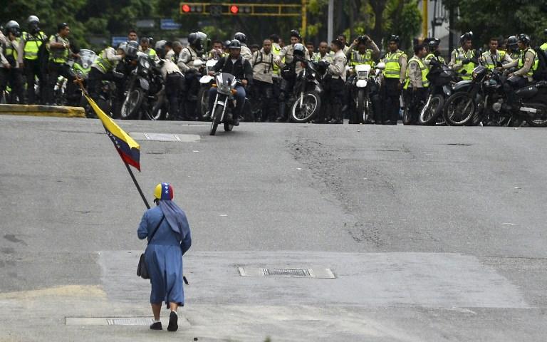 Marchas en Caracas contra la dictadura