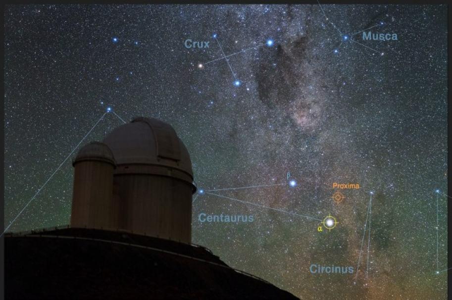 Observación astronómica. Imagen de referencia.