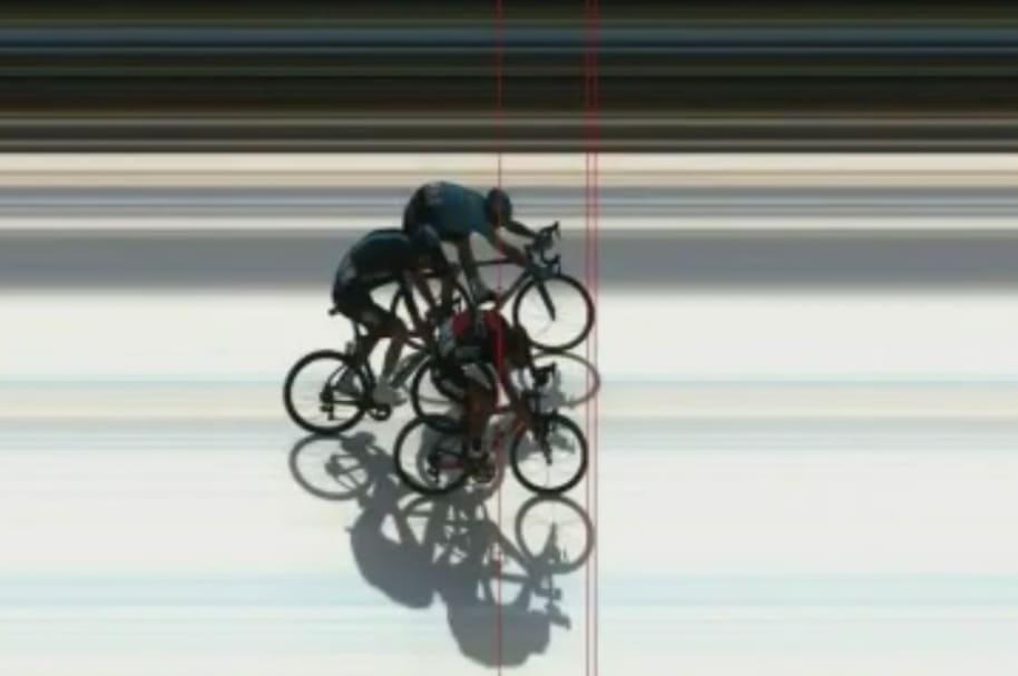 Foto Finish de etapa 6 en Critérium du Dauphiné