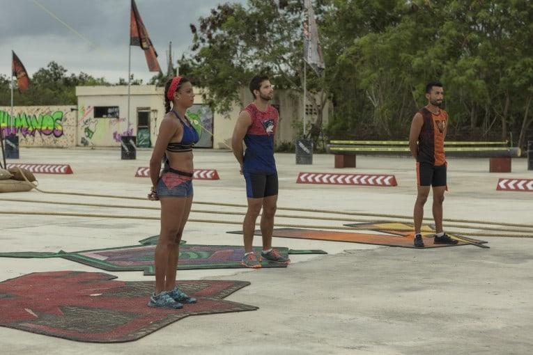 Dina, 'el Ricky' y Óscar, participantes del 'Desafío Súper Humanos Cap Cana'.