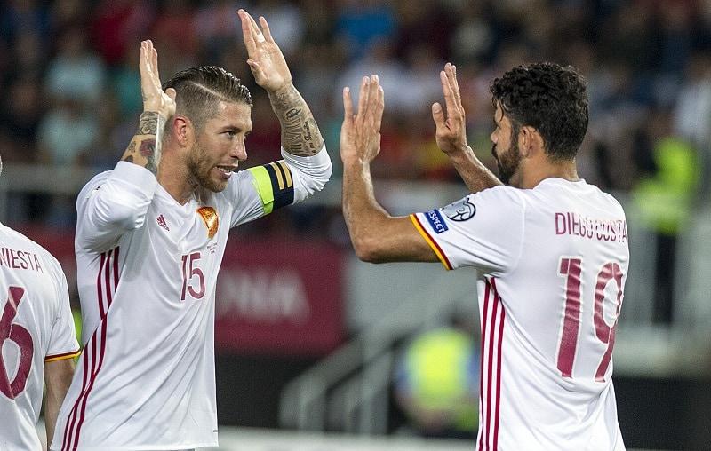 Diego Costa y Sergio Ramos.