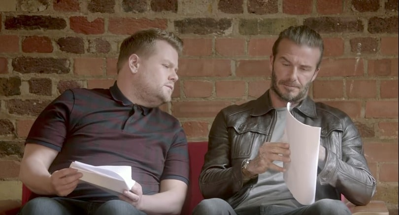 James Corden y David Beckham. Pulzo.com
