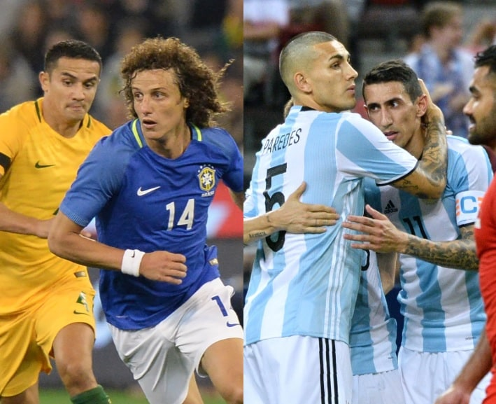 Australia 0-4 Brasil / Singapur 0-6 Argentina
