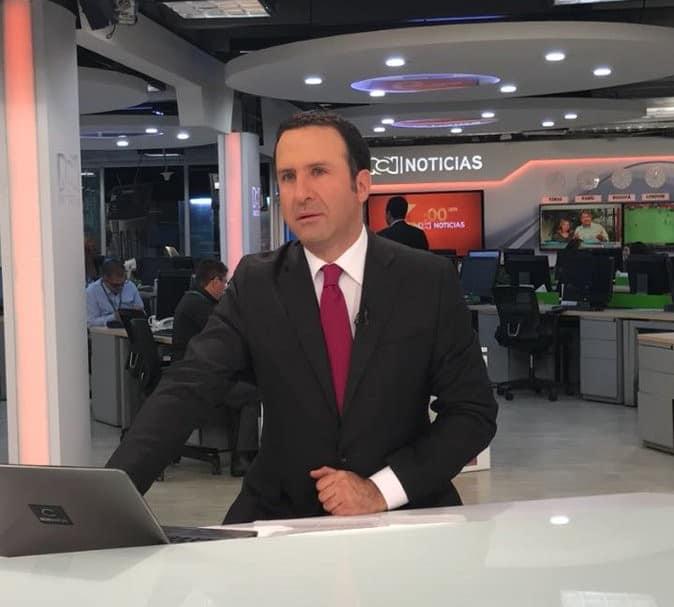 Felipe Arias, en el plató de RCN Noticias
