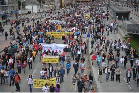 Marcha de profesores