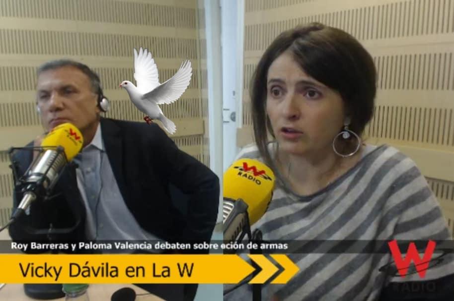 Roy Barreras y Paloma Valencia