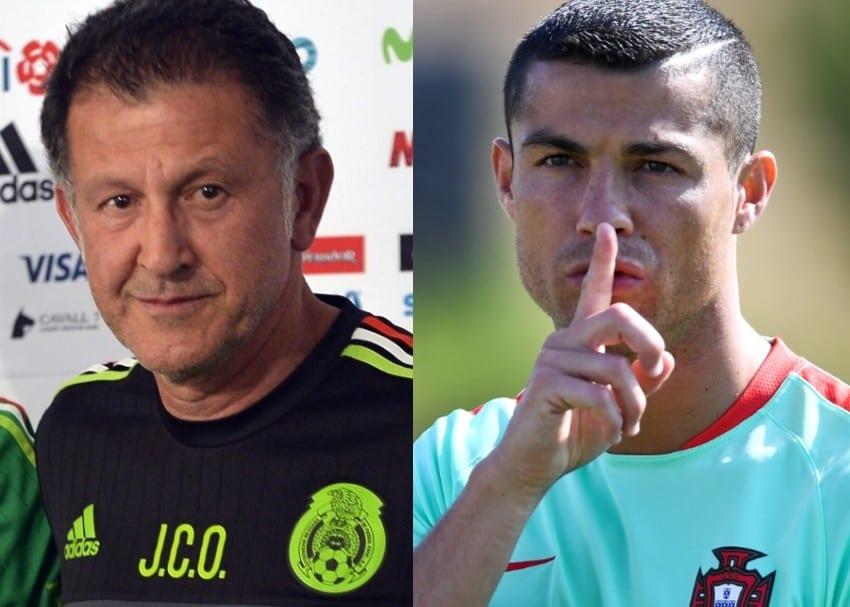 Juan Carlos Osorio y Cristiano Ronaldo