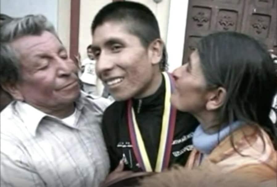 Nairo Quintana y padre