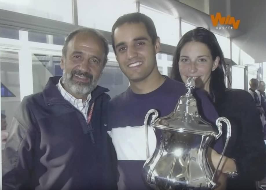 Juan Pablo Montoya y su padre