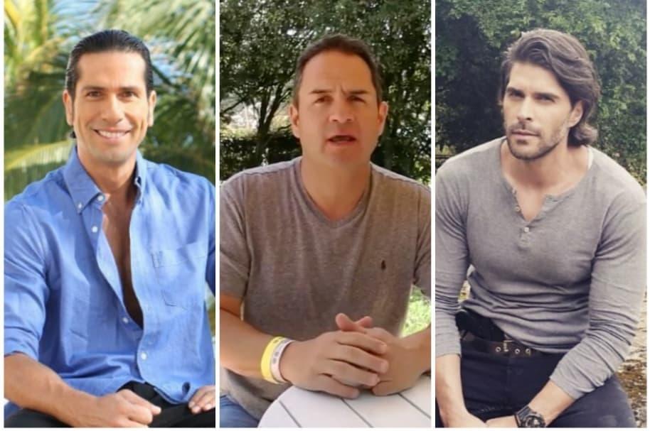 Gregorio Pernía, Mauricio Vélez y Juan Pablo Llano.