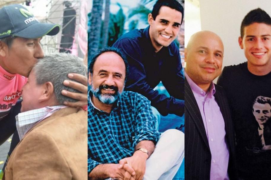 Padres de deportistas colombianos