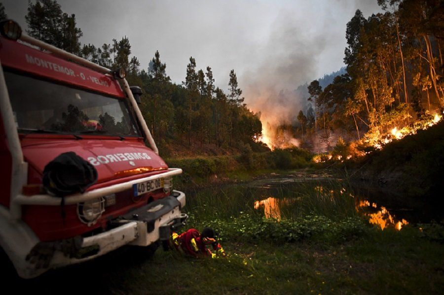 Incendio forestal en Portugal