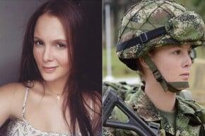 Vanessa Rojas, teniente del Ejército Nacional.