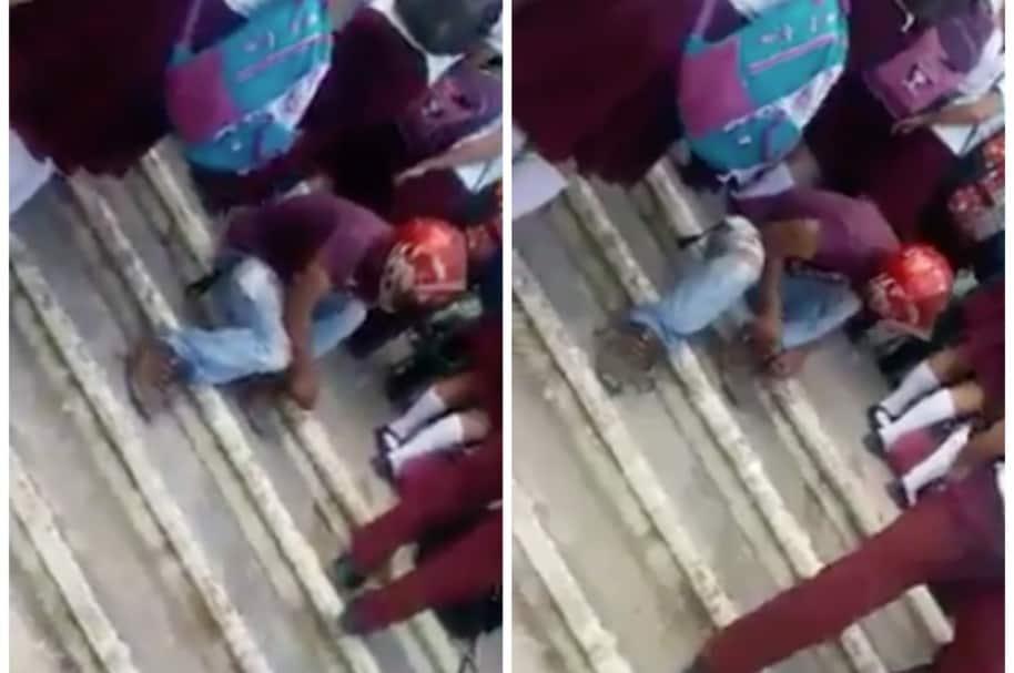 Pervertido mira por debajo de la falda a estudiantes, en Veracruz, México. Pulzo.com