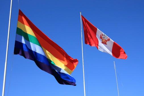 Bandera de Cusco y de Perú