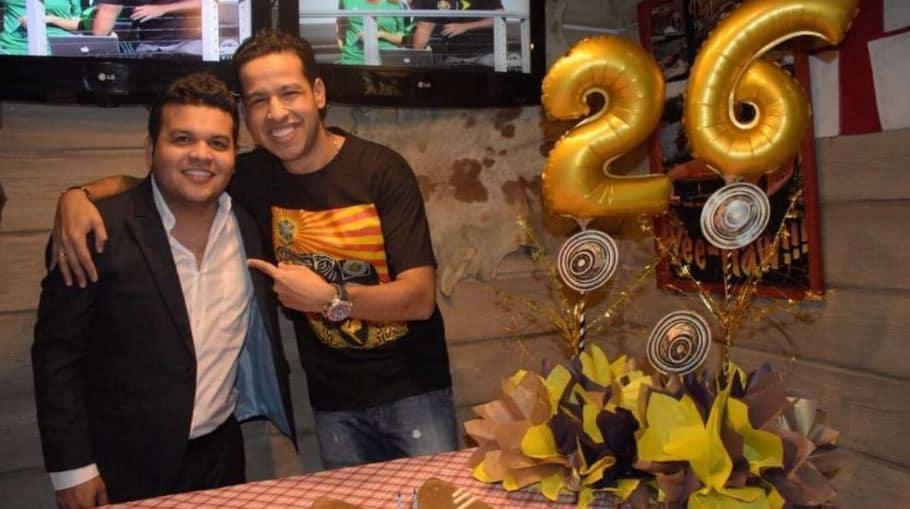 Juan K Vega, mánager, y Martín Elías, cantante (Q.E.P.D.).