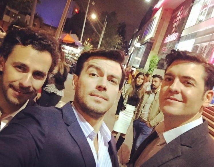Iván López, Luciano D'Alessandro y Rodrigo Candamil, actores.