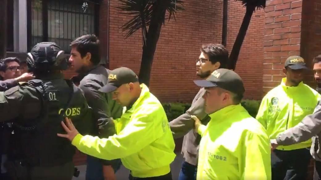Capturados por atentado en Bogotá