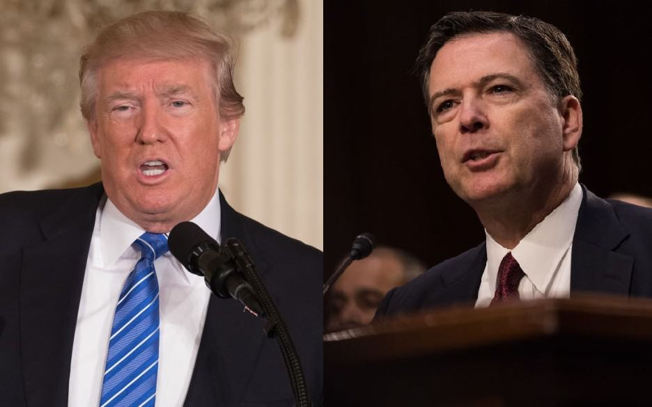 Donald Trump y James Comey