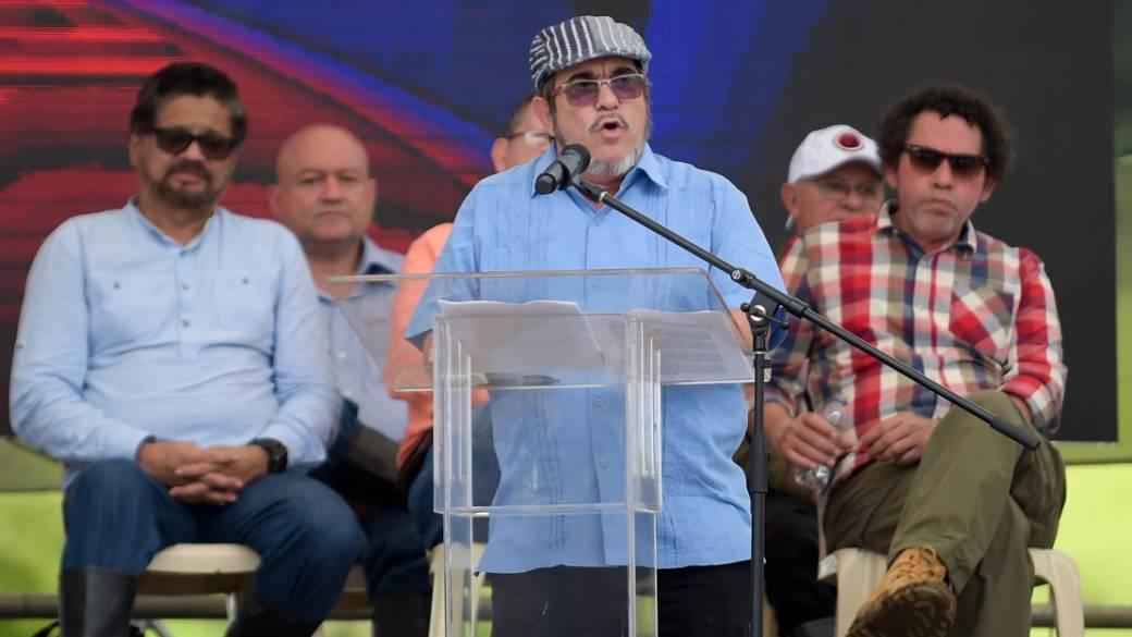 Rodrigo Londoño, en acto de dejación de armas de las Farc