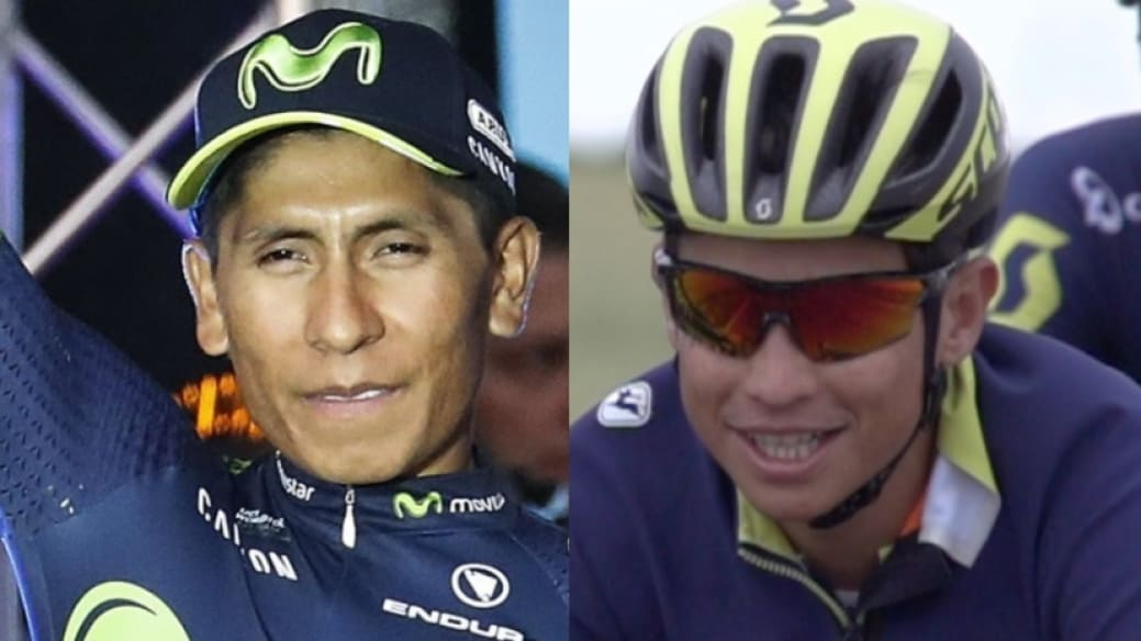 Nairo Quintana y Esteban Chaves