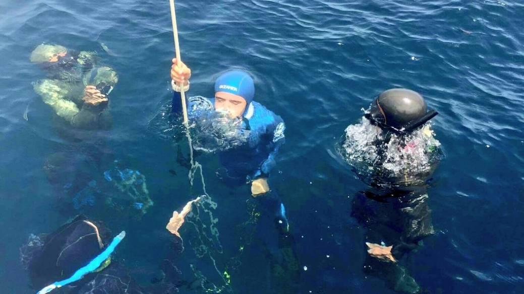 Sofía Gómez inmersión de entrenamiento a 81m de profundidad.