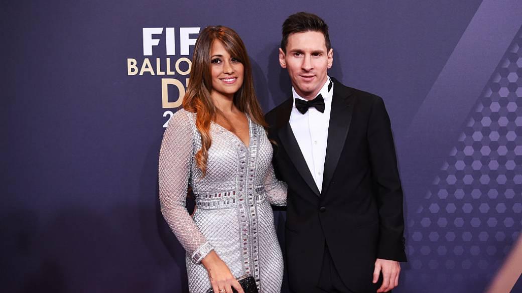 Messi y Antonella Rocuzzo