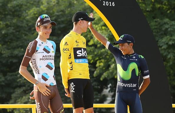 Romain Bardet, Chris Froome y Nairo Quintana