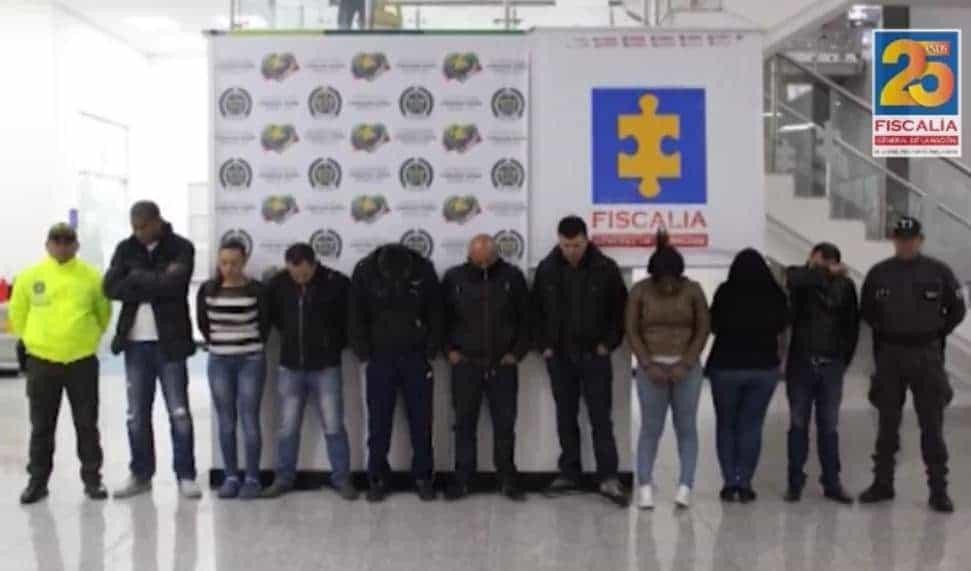 Estos son los 9 capturados de la banda criminal 'Los millonarios'