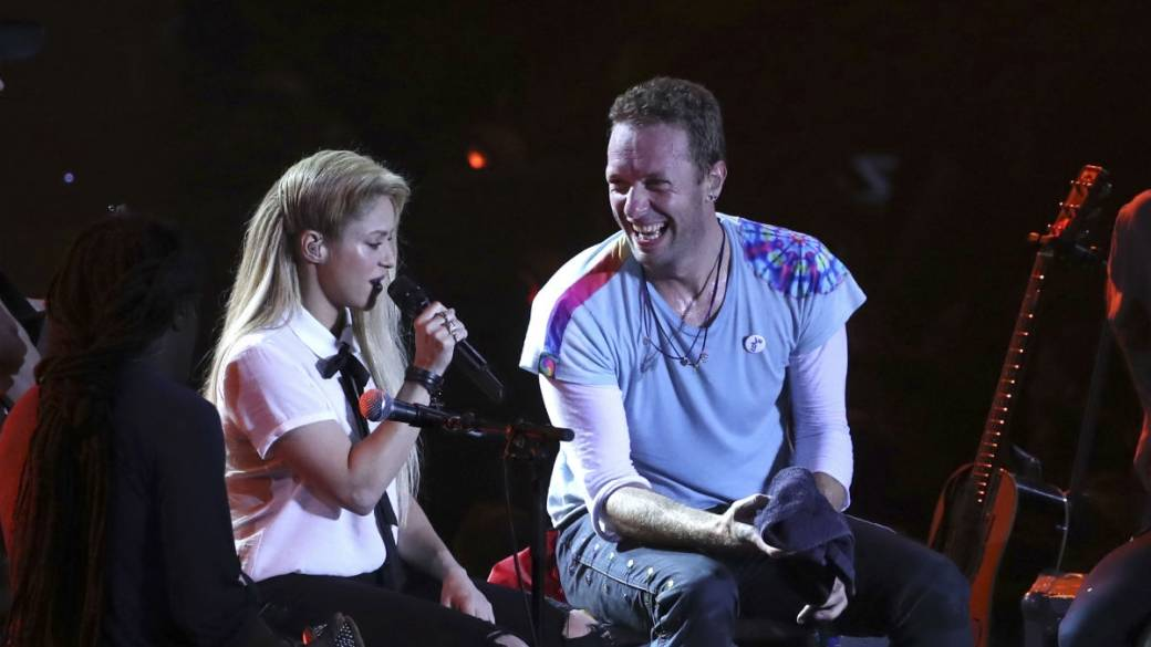 Shakira y Chris Martin, de Coldplay