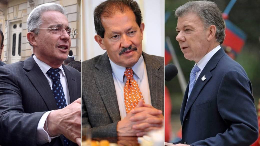 Santos, Uribe y Angelino