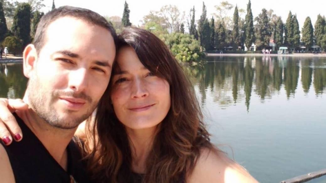 Sebastián Martínez y su esposa Kathy Sáenz, actores.