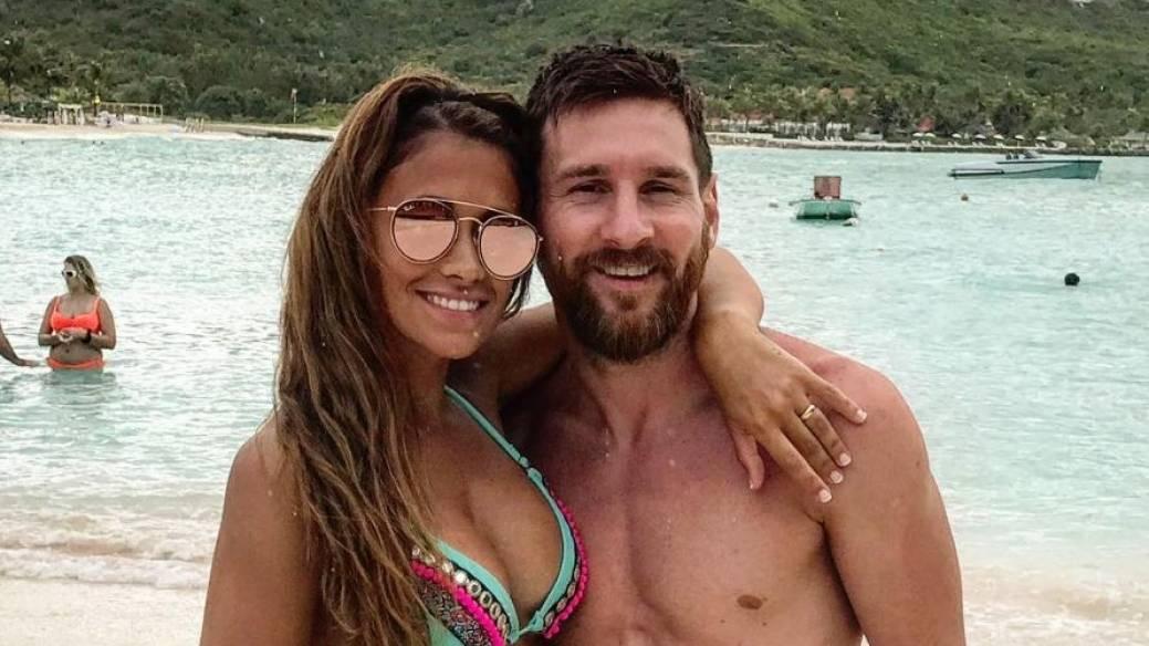 Lionel Messi, futbolista del Barcelona, y su esposa Antonella Roccuzzo.