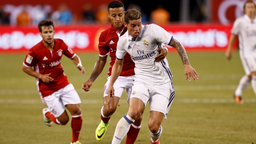 James enfrenta con Real Madrid al Bayern