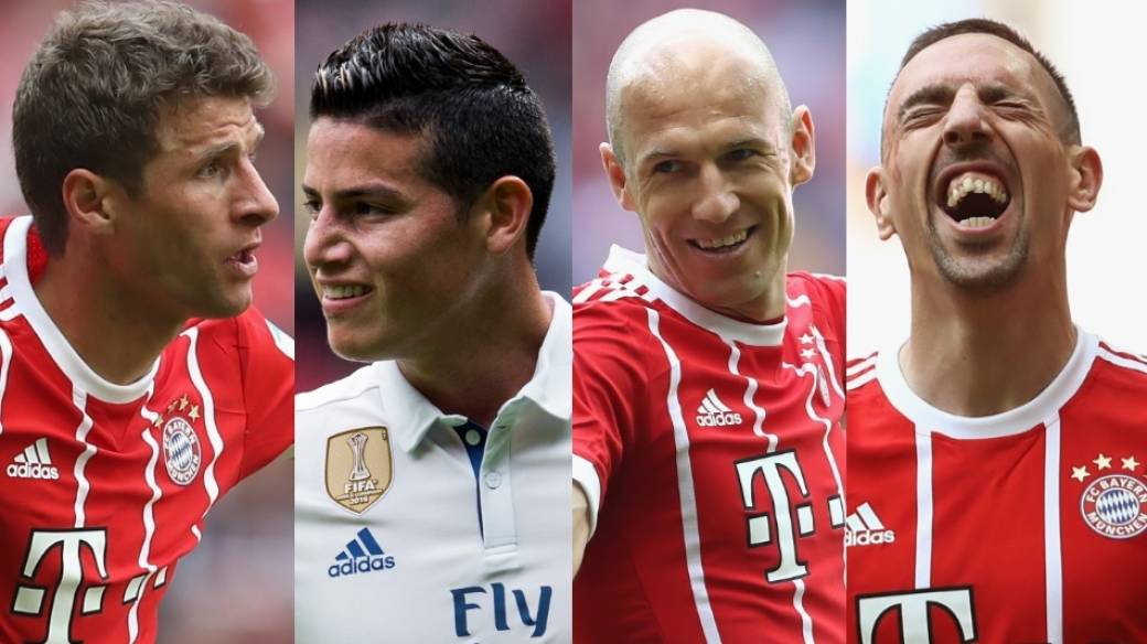 Müller, James, Robben y Ribery
