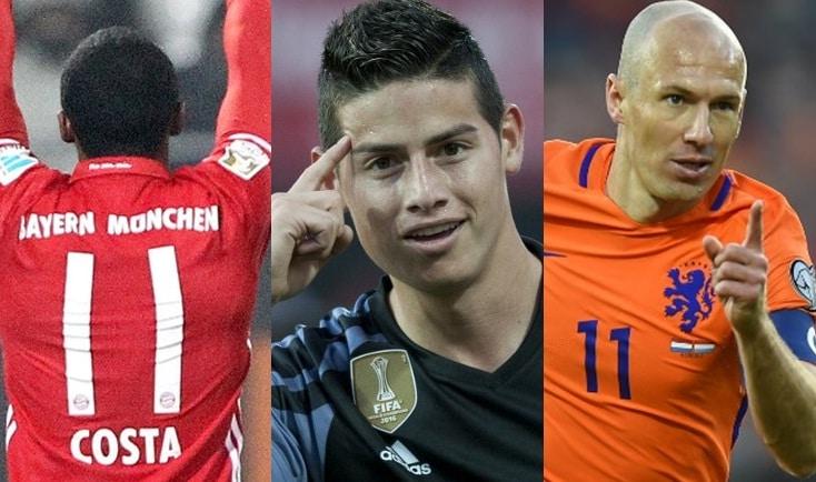 Costa, James y Robben