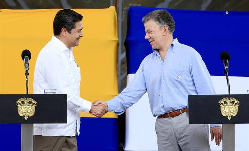 Presidentes de Honduras y Colombia