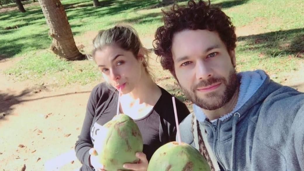 Cristina Hurtado, presentadora, y su esposo, el actor Josse Narváez.