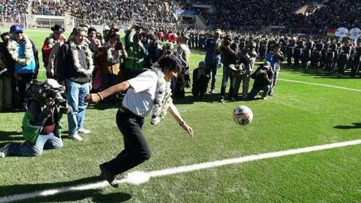 Evo Morales en Estadio