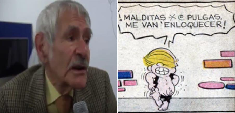 Ernestro Franco, creador de la tira cómica 'Copetín'.