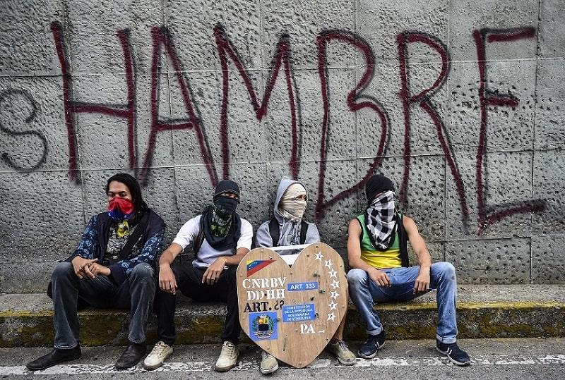 Manifestantes en Venezuela