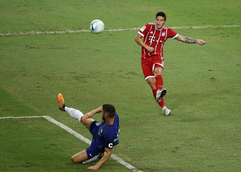 James en partido Bayern-Chelsea